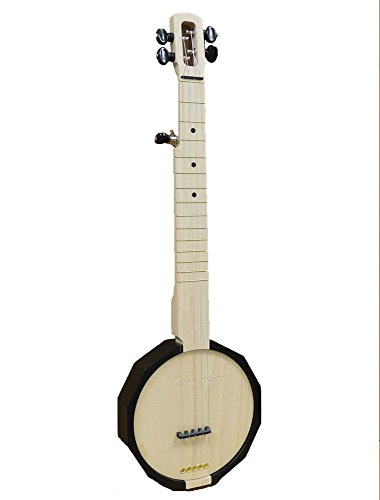 Zither Heaven Black 5 String Banjo with Friction Tuners
