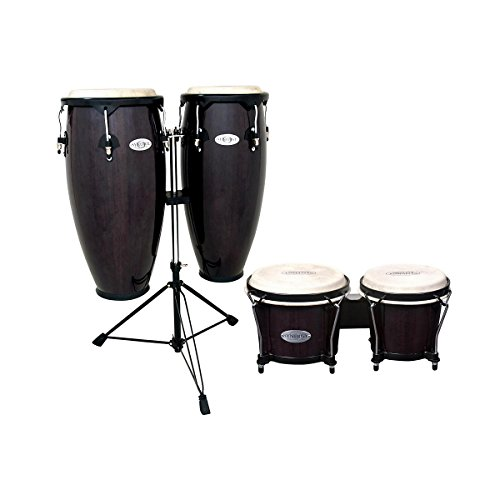Toca Synergy Conga Set with Stand and Bongos Transparent Black (Transparent Black)