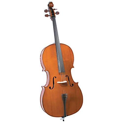 Cremona SC-150 Premier Student Cello Outfit 1/4 Size, Boxwood Fittings, Aging Toner, Deluxe Hard Case