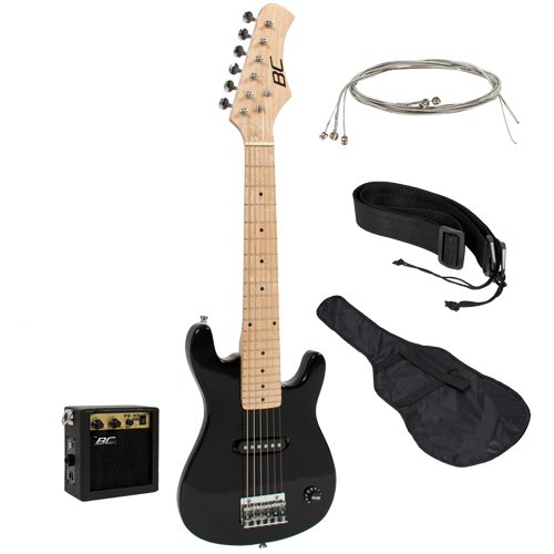 New 30″ Kids Black Electric Guitar With Amp & Much More Guitar Combo Accessory Kit