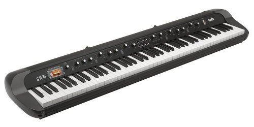 KORG SV188BK 88-Key Digital Piano with Vintage Sounds, Period Effects and Retro Styling