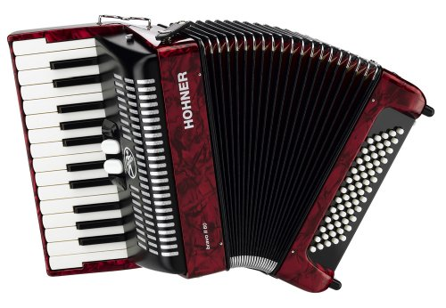 Hohner Bravo Piano Accordion, 60 Bass, Red
