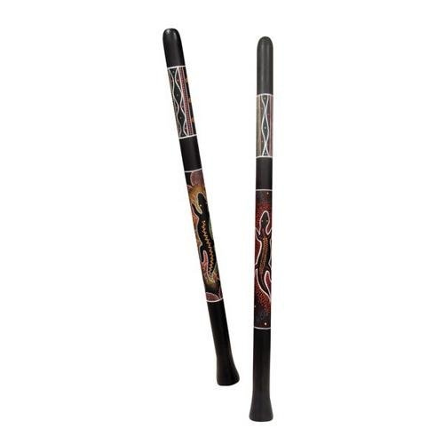 Toca Large Bamboo Didgeridoo with Bag (Burnt Sketch)