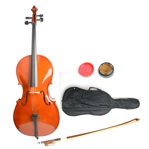 Getmore Retro Style 49.61 * 17.52 * 4.92 Inch 4/4 Cello with Case Bow Rosin