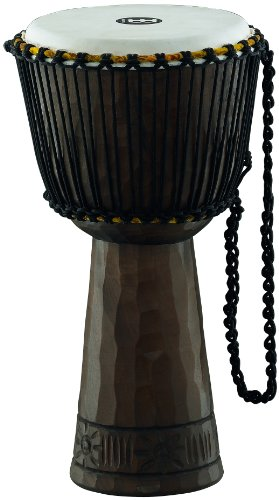Meinl Percussion PROADJ1-L Professional 12-Inch African Style Rope Tuned Mahogany Djembe with Goat Skin Head, Traditional
