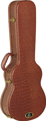 Ortega Guitars OUC-BS Baritone/Bass Ukulele Hard Case with Dark Brown Velvet Padding