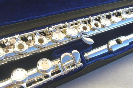 New OPEN HOLES Silver Concert Band flute w/Case.Approved+Warranty.