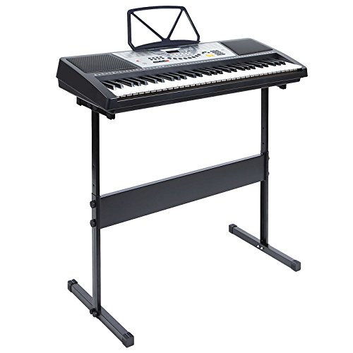 Hamzer 61 Key Electronic Music Electric Keyboard Piano with Stand – Black
