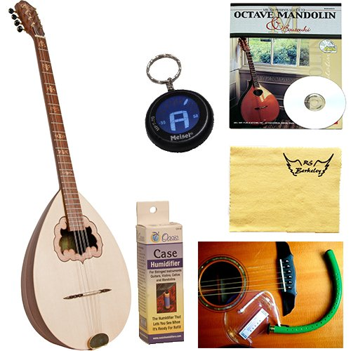 Roosebeck Bouzouki Sheesham Stave Body with Hard Case Deluxe Package w/Accessories