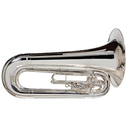 King 1151 Ultimate Series Marching BBb Tuba (1151SP Silver)