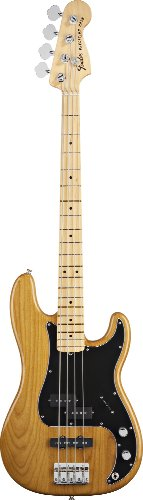 Fender Tony Franklin Fretted Precision Bass Guitar, Maple Fingerboard – Gold Amber