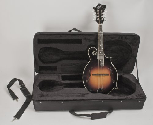 """F-STYLE MANDOLIN """"THE BON AIR"""" ALL SOLID WOOD COMPLETELY SET-UP & ADJUSTED FOR PERFECT PLAY INCLUDED A HARD FEATHERLITE CASE & FAST HANDLING FREE SHIPPING"""