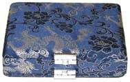 Oboe Reed Case 24-Reed Blue with Silver Silk clips