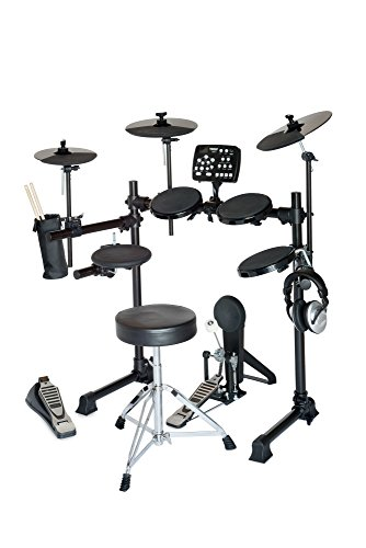 Hitman HD-5 Deluxe Electronic Drum Set with Throne and Software