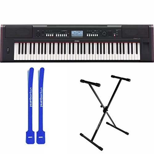 Yamaha NP-V80 76-Key Compact Electronic Keyboard w/ Single Braced Stand & Cable Ties