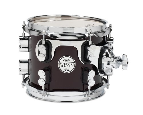 Pacific Drums PDCM0708STTC 7 x 8 Inches Tom with Chrome Hardware – Transparent Cherry