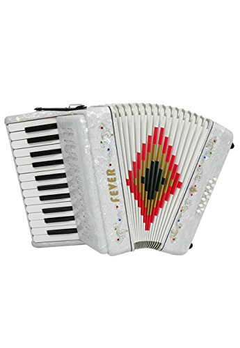 Fever F2512-WH Piano Key Accordion