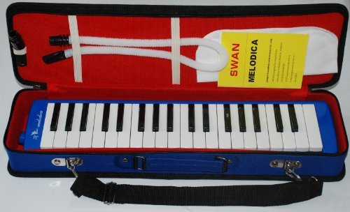 Swan 37 Key Melodica with Case – Blue Color
