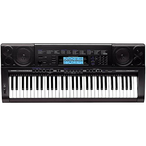 Casio CTK-5000 Portable Keyboard with AD12 Adapter