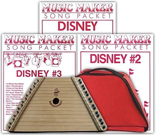 Lap Harp, Padded Case and 3 Disney Song Packs (48 songs total)
