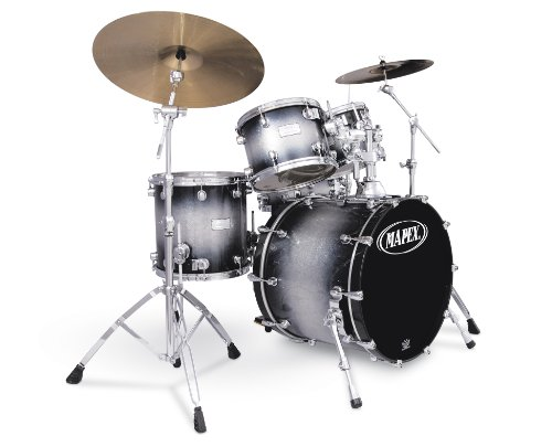 Mapex Saturn Series Walnut and Maple Jazz 5-Piece Drum Set in Galaxy Sparkle Burst Lacquer Finish