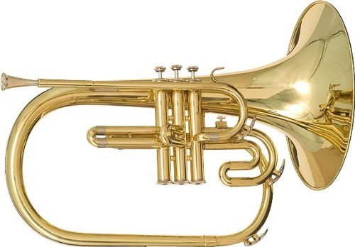 Blessing BM-400 Marching French Horn, Lacquered Brass