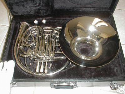 Silver Double French Horn, F/Bb key, detechable bell, with hard case