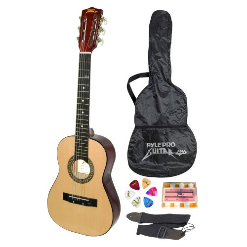 """Pyle-Pro PGAKT30 30"""" Inch Beginner Jamer, Acoustic Guitar w/ Carrying Case & Accessories"""