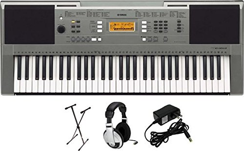 Yamaha PSRE353 Portable Keyboard  with Headphones, Power Supply, and X-Style Stand