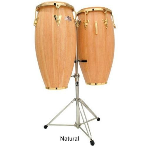 Latin Percussion LPC747-AWG Caliente Series 11-Inch and 12-Inch Conga Set with Stand – Natural