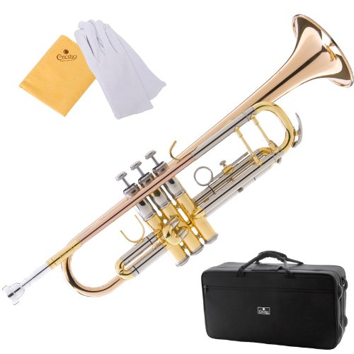 Cecilio 4Series TT-480 Intermediate/Advanced Double-Braced Bb Trumpet with Monel Valves + Case, Mouthpiece and Accessories