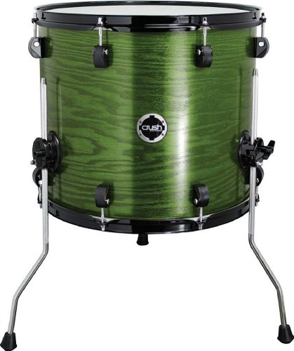 Crush Drums & Percussion C2A18X16-203 18-Inch Tom Tom, Transparent Satin Forest Green