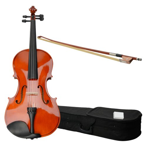 GLARRY 15″ Acoustic Viola With Case , Bow , Rosin Wood Color for adults
