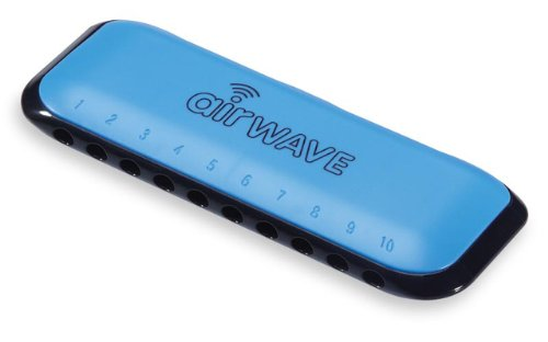 Musical Instrument Corporation AW-1B Airwave Harmonica with Instruction Book, Blue