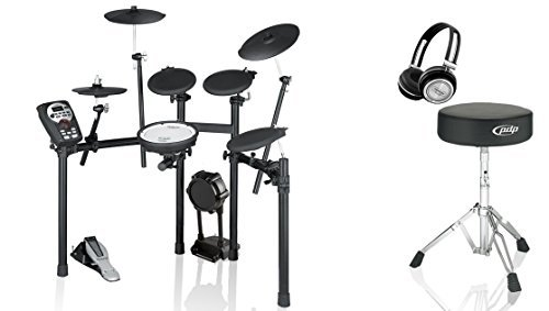 Roland TD-11K-S Electronic Drum Kit BUNDLE with Drum Throne and Headphones