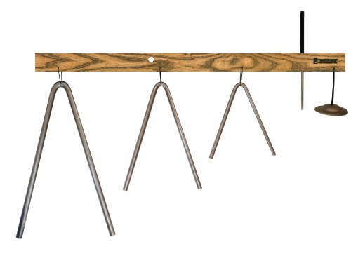 TreeWorks Chimes TRE04tt-V Bi-Angle Tree – 6, 9, & 12 Inch Metal Effects on a White Ash Mantle with Beater and Finger Cymbal