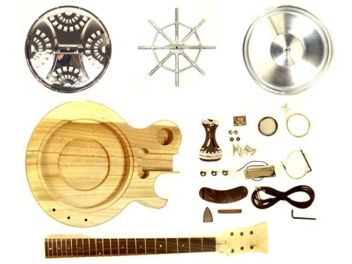 Stellah Unfinished Resonator Electro Acoustic Guitar DIY Kit Project