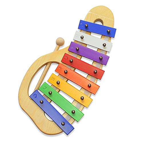 Glockenspiel Xylophone, Ideal First Musical Instrument for Children, Educational and Fun for All Ages, Beautiful Precision Tuned Instruments include Wood Mallet and 12 page Music Pattern Song Book