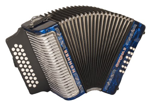 Hohner Corona II G/C/F Diatonic Accordion – Dark Blue