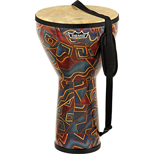 Remo Djembe, Festival, Large, 12″ Diameter, 21″ Height, Fabric Twinings