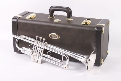 Yamaha YTR-8335RGS, Professional Xeno Trumpet, Key of Bb, .459″ bore, one-piece 4-7/8″ gold brass bell, monel pistons, reversed leadpipe, main tuning slide brace, silver plated, TRC-606 case, 16C4-HGP mouthpiece