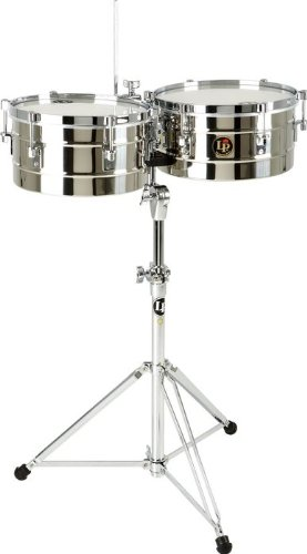 Latin Percussion LP255-S Timbal Stainless Steel