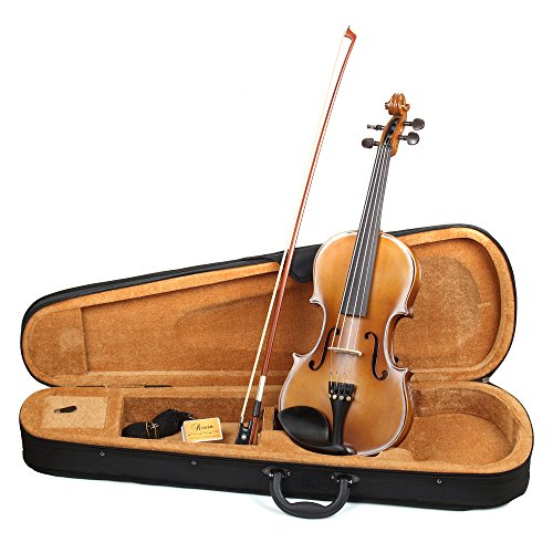 Hola! HV1 4/4 (Full) Size Solid Wood Student Violin Outfit, Antique