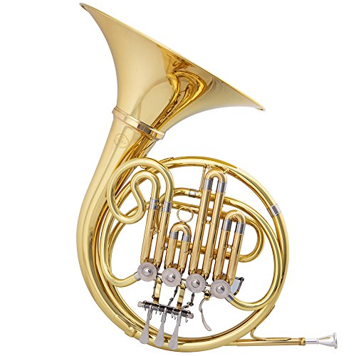 Jazzor® Brass Wind Instruments French Horn B Flat Model No. Jzfh-210 Gold-plating