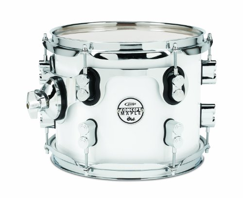 Pacific Drums PDCM0810STPW 8 x 10 Inches Tom with Chrome Hardware – Pearlescent White
