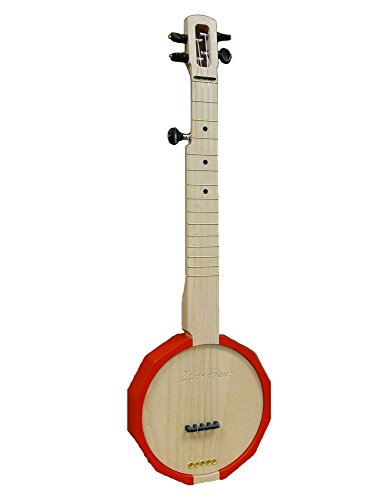 Zither Heaven Red 5 String Banjo with Friction Tuners