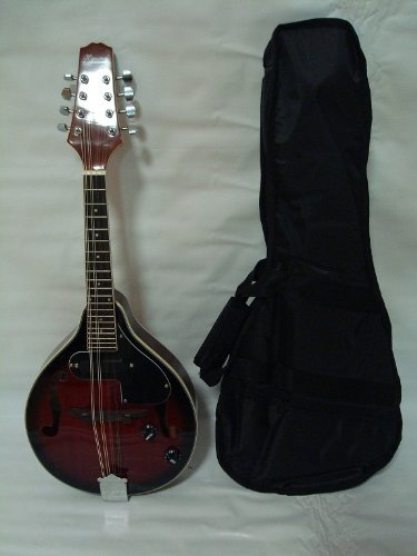 Ktone A-style Acoustic Electric Mandolin, Free Gig Bag, Redburst, Brand New