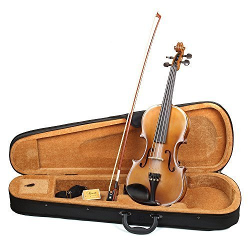 Hola! HV1 1/4 Size Solid Wood Student Violin Outfit, Antique