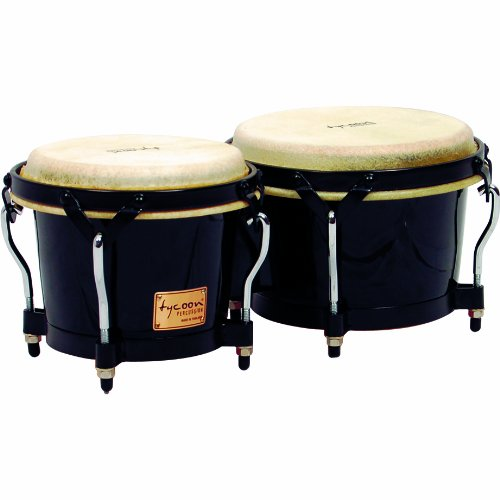 Tycoon Percussion 7 Inch & 8 1/2 Inch Supremo Series Bongos – Black Finish