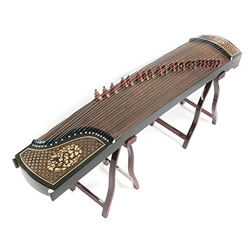 Professional Rosewood Chinese Guzheng Zither Koto Carved With Royal Dragon in Sky Pattern